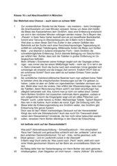 Satirischer Text über eine Klassenfahrt nach München