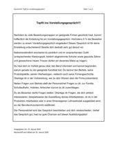 Topfit ins Vorstellungsgespräch! - Nachschrift mit Übungen und Lösungen