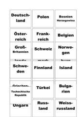 Kärtchen  Staaten-Hauptstädte (Europa)