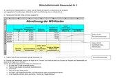 Klassenarbeit Excel Formatierung einfache Formeln