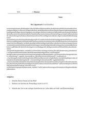 Test/Klausur zur Lesekompetenz