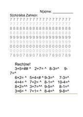 Zahlenschreiben -1.Jg.