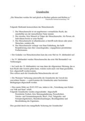 Entwicklung und kurze Geschichte der Grundrechte