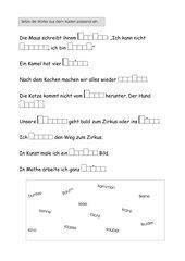 Wortschatzübungen (Wörter mit z,g,ch)