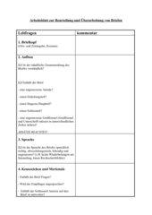 Arbeitsblatt zur Beurteilung und Überarbeitung von Briefen, Klasse 5 Gymnasium