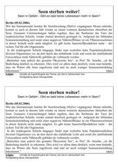 Zeitungsartikel - Seen sterben - Einstieg zu Zirkulation von Seen