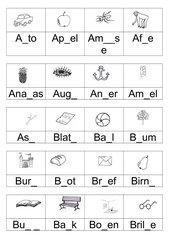 Lückenwörter Teil1 - A-H