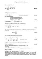 Zusammenfassung zur Analytische Geometrie (Operatives Verfahren)