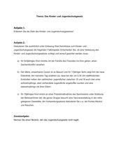 Klausur Jugendschutzgesetz (Fallbeispiele)