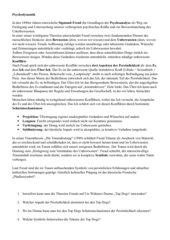 Psychoanalyse und Traumtheorie