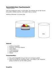 Gummibärchen-Tauchversuche