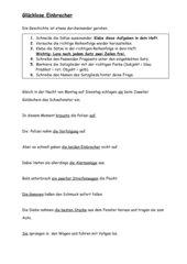 Übungsblatt zum Thema Satzglieder erkennen