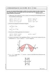 Klausur Analysis - Integralrechnung 2