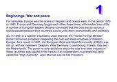 Die Geschichte der EU - Informationstexte