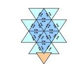 noch ein Puzzle aus dreieckigen Einzelteilen (Trimino)