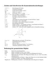 Kurzschreibweisen für Konstruktionsbeschreibungen