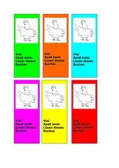 Lesezeichen für Osterbücher