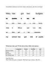 scrambled sentences,Kl. 5