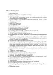 Themenliste Stellungnahme