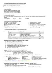Grammatik - Satzteile 4. Klasse