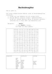 Buchstabengitter für unregelmäßige Verben