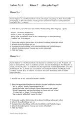 Aufsatz Klasse 7 zur Lektüre