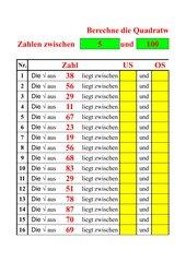 Zahlen Auswendig Lernen