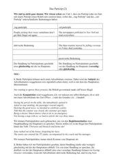 Partizipien als Adverbialien