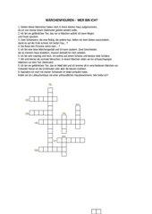 Märchenfiguren-Rätsel für 3./4. Klasse