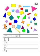 Flächen erkennen und zählen Klasse 1