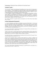Zitatenvergleich zur Dramentheorie (Aristoteles, Gottsched, Lessing)