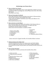 Hefteinträge zum Thema Mose