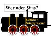 Satzglieder - Zug