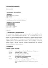Unterrichtseinheit (6 Std.): Balladen