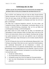 Text - Verkehrswege über die Alpen - früher und heute