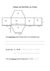 Volumen und Oberfläche gerader Prismen