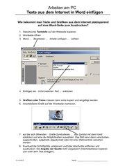 Informationen aus dem Internet auf eine Word-Seite einfügen