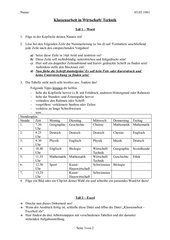 Klassenarbeit - Textverarbeitung mit Word