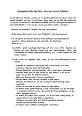 Anleitung Lesetagebuch Insel der blauen Delfine / Delphine