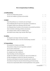 Bewertungsbogen Erzählung