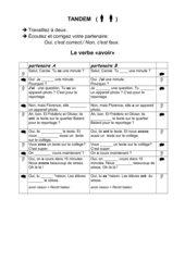 Découvertes, Cours Intensif 1, Lecon 2 - Tandembogen zum Verb