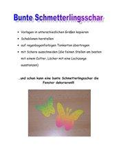 Bunte Schmetterlingsschar