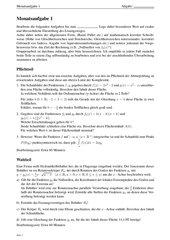 Monatsaufgabe zur Klausurvorbereitung: Analysis-Integralrechnung