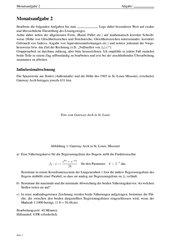 Monatsaufgabe zur Klausurvorbereitung: Integralrechnung, Funktionsanpassung , lineare Gleichungssysteme.