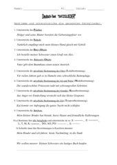 Satzglieder - Leistungstest