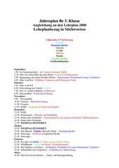 Jahresplan 3 Klasse /7.Stf