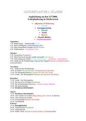 Jahresplan 1 KLasse /5.Stf