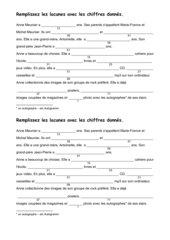 Arbeitsblätter zum Einüben der Zahlen 1-100 (Lektion 7/8)