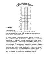 Rätsel mit ck-Wörtern