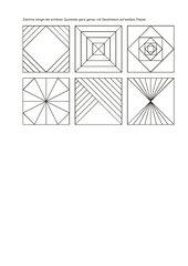 schöne Quadrate mit dem Geodreieck zeichnen
